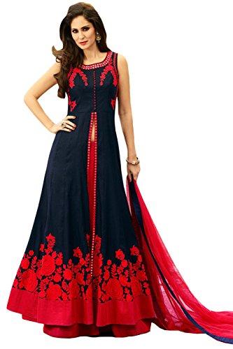 Muta Fashions Banglori Navy Blue Women Gown