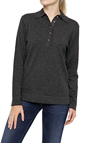 Lai La New York Damen Pullover 100% Kaschmir CORA Pure Cashmere , Farbe: Anthrazit, Größe: 50 (New York-kaschmir-pullover)