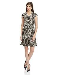 Park Avenue Woman A-Line Dress (PWEE00399-K8_Black_81)