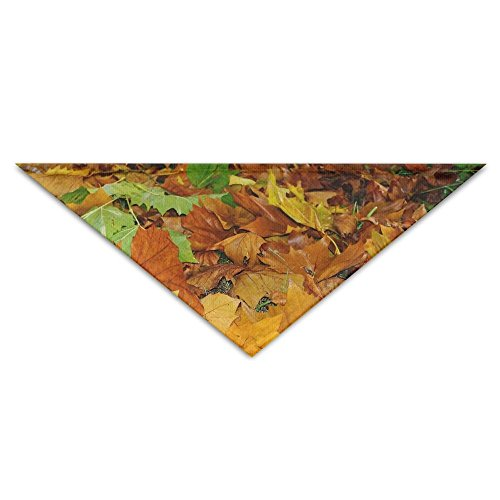 Green Maple Leaf (Gxdchfj 3D Gold and Green Maple Leaves Pet Dog Cat Puppy Bandana Triangle Head Scarfs Accessories)
