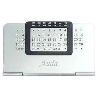 Ewiger Kalender mit eingraviertem Namen: Auda (Vorname/Zuname/Spitzname)