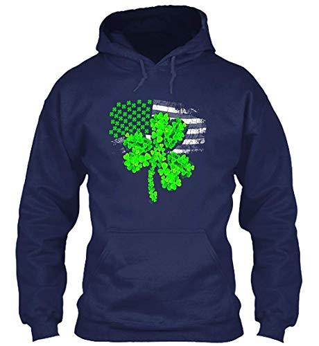 St Patricks Day American Flag Tshirt Sweatshirt - Gildan 8oz Heavy Blend  Hoodie 9907c4ff98