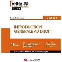 Introduction générale au droit : Semestre 1