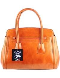 Olivia - OLIVIA - Sac à main cuir veritable - Sac en cuir marron/camel N1363 Livraison OFFERTE