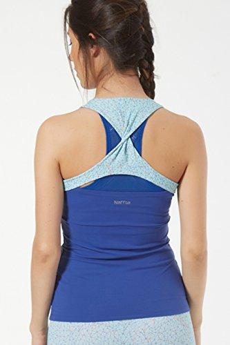 Naffta Fitness Camiseta Tirantes, Mujer, Azul Noche (intrincado), S
