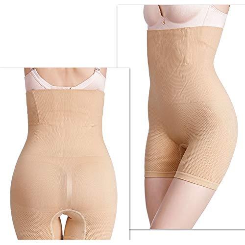 YRXIN Shapewear Damen Miederhosen Bauch Weg Figurformender Taillenformer Miederslip Miederpants Body Shaper,Miederhose mit hohem Bundskin Tone-XXXXL - 2