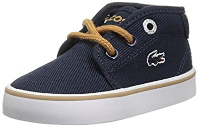 M US Infant 10.5 Navy Canvas Lacoste Baby Ampthill Chukka Boot