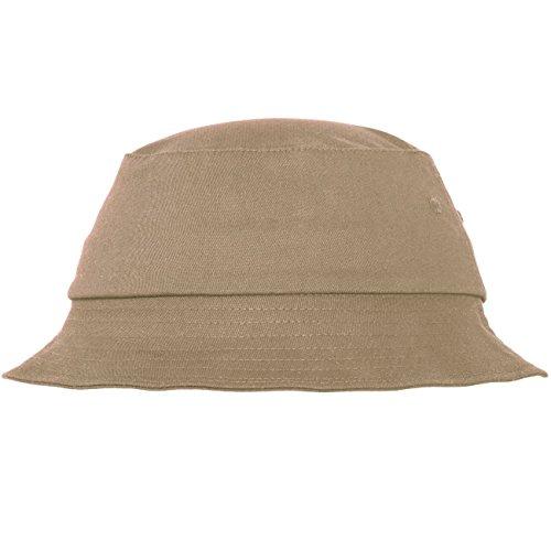 Flex fit Cotton Twill Bucket Hat Khaki One Size Casquette Unisex-Adult
