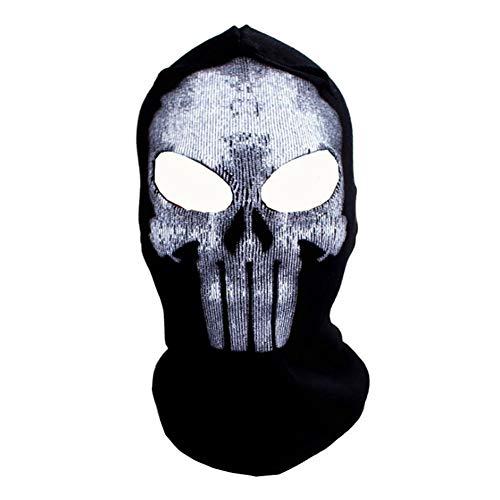 WEISY Halloween-Maske, 3D-Bedruckte Schädel-Gesichtsmaske Scary für Erwachsene Männer Frauen Kinder