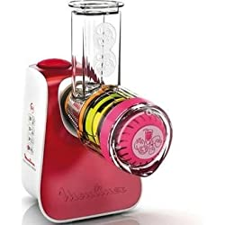 Moulinex DJ764510 Hachoir avec accessoires en acier inoxydable et plastique, 200 W, Red,White