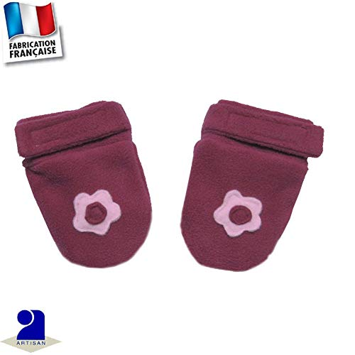 Poussin Bleu - Moufles polaire Made In France Couleur - Rose, Taille - 67 cm 6 mois