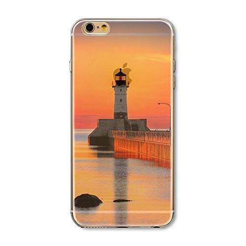 Coque iPhone 6 6s Housse étui-Case Transparent Liquid Crystal en TPU Silicone Clair,Protection Ultra Mince Premium,Coque Prime pour iPhone 6 6s-Paysage-style 8 15