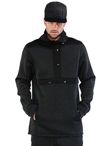 Mons Royale Herren Transition Pullover Mid Layer Forest Green/Black, XL