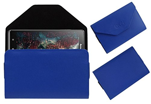 Acm Premium Pouch Case For Lenovo Vibe Z K910 Flip Flap Cover Holder Blue  available at amazon for Rs.179