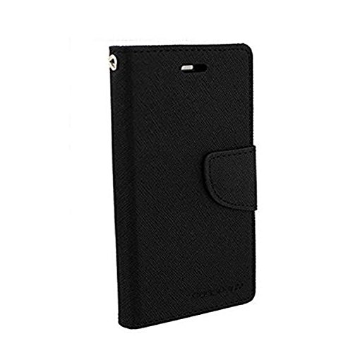 Casecraft Samsung Galaxy Grand Max G7200 Flip Cover Case Wallet Style Cover (Black)