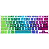 "Français Clavier Coque de Protection / Couverture AZERTY pour MacBook Pro 13"" 15"" 17"" (with or without Retina Display) et Air 13"" EU/ISO Keyboard Disposition Silicone Skin -- arc-en-ciel / Rainbow"