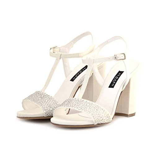 Sandali sposa Albano raso bianco 35