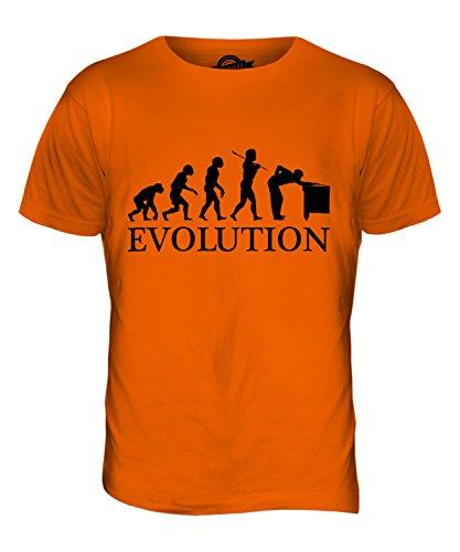 CandyMix Snooker Evolution Des Menschen Herren T Shirt Orange