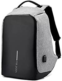Fur Jaden 15 Ltrs Grey Anti Theft Waterproof  Backpack
