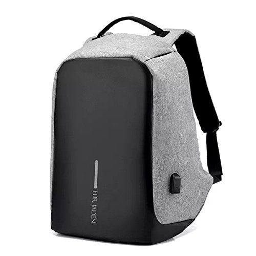 Fur Jaden 15 Ltrs Grey Casual Backpack (BM20_Grey)
