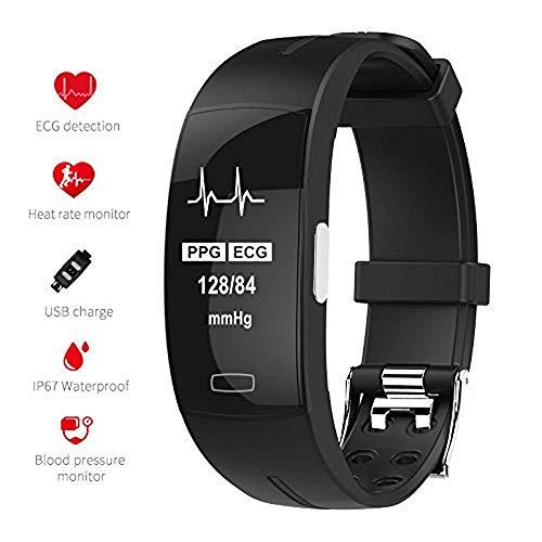 ZZALL TOM TONY P3 Fitness Tracker HR Smart HRM Bracciale con cardiofrequenzimetro e monitoraggio della pressione sanguigna, contapassi, contapassi, orologio fitness tracker per bambini, donne e uomini