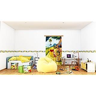 AG Design Disney Winnie Puuh Wand Sticker, Selbstklebende Folie, Mehrfarbig 500 x 10 cm