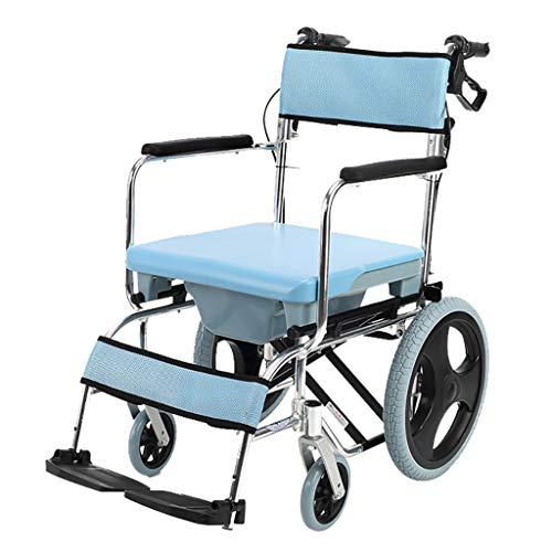 Lattice toilettenstuhl Dusche Rollstuhl üBer Wc Mit Kommode, Badezimmer Robust Faltbarer Aluminiumrahmen Gepolsterte Sitzlehne Mit Handbremsen