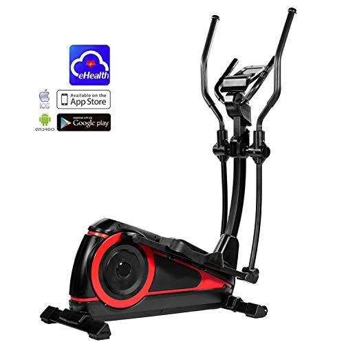 AsVIVA Unisex - Adult Cross Trainer and Ergometer C25 Pro Bluetooth Black/Red, One Size
