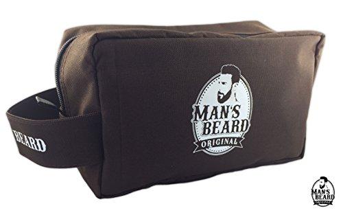 Man-S-Beard--Rectangular-Fabric-Brown-Travel-Bag