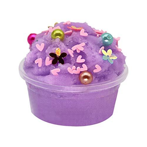 chsene Entwicklung Lernspielzeug Bildung Spielzeug Gute Geschenke,Schöne Farbe Slime Kitt Duftender Stress Kinder Lehm Schneeflocke Schlamm Spielzeug 60ml ()
