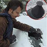 #7: Balock Schuhe Cone-Shaped Auto Windschutzscheibe Schneeräumung Scraper Schaufel Fensterreinigungswerkzeug,Windschild Eiskratzer Round Magic Cone-Shaped Eiskratzer (Schwarz)