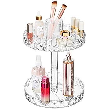 Riverry Aufbewahrungsbox F/ür Make-Up Retro Einfache Kupferstreifen Glas Obstteller Kann S/ü/ßigkeiten Obst Schmuck Kosmetik Setzen
