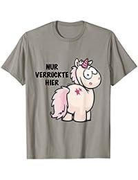 """T-Shirt Einhorn """"Nur Verrückte hier"""" design by NICI"""