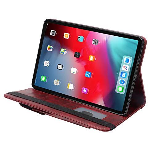 TechCode Hülle für iPad Pro 12.9 Zoll 2018(3rd Gen), Ultra dünn smart Schutzhülle Case mit Pencil Halter Luxus Pu Leder Smart Cover Folio Buch Stils Ständer Schutzhülle für iPad Pro 12.9 2018 -