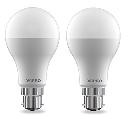 Wipro Garnet 12-Watt LED Bulb (Pack of 2, Cool Day Light)