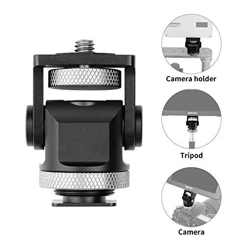 fotowelt Mini-Blitzschuh-Adapter Kamera Monitor Mount Halter Halterung für Kamera, Camcorder, Smartphone, Gopro, LED-Videolicht, Mikrofon, Video-Monitor Dslr-kamera-mount-adapter