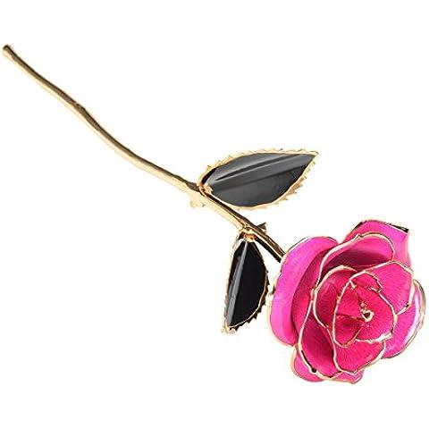 Mr Pro marchio autentico a stelo lungo rosa placcato in oro 24K, Vera Rosa Fiore vita, migliore regalo per Ama. Ideale per San Valentino _ _ S mamma, _ _ S Day, anniversario e compleanno Light