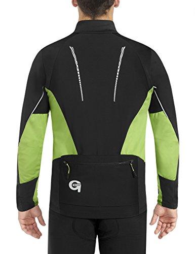Gonso - Giacca Bog termoattiva, da uomo Verde - Black/Greenery