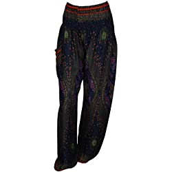 Pantalones harén - ALADDIN pantalones de 18 diseños diferentes tipo libro con función de hippy con texto