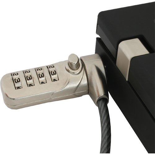 InLine 55702 Notebook Sicherheitsschloss mit Zahlenkombination (4,4 mm x 2 m)