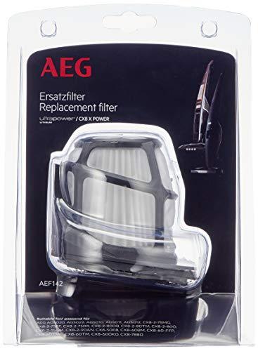 AEG AEF142 Austauschfilter für CX8 und UltraPower (Innenfilter, Außenfilter, regelmäßiger Filtertausch, optimale Filtrationsleistung, verbesserte Saugleistung, passgenau, schwarz)