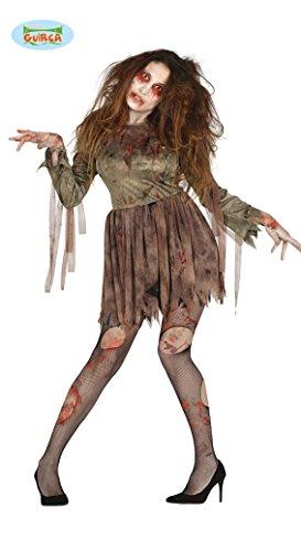dreckiges Zombie Kostüm für Damen Blutig Tot Fan Halloween Horror Frau Gr. M/L, ()