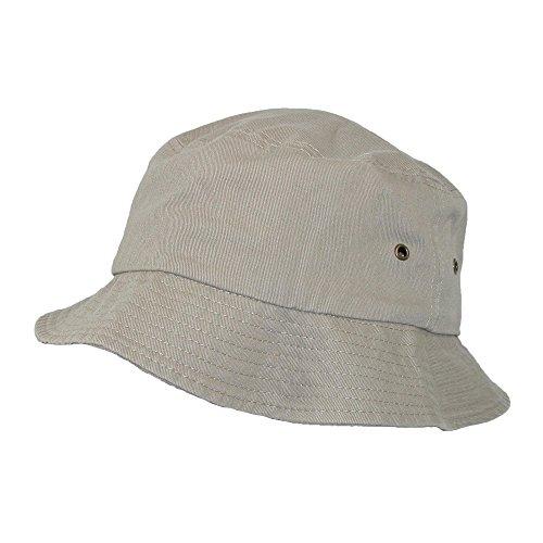 d38ebf74 Sportsman Cotton Twill Summer Packable Travel Bucket Hat, Khaki