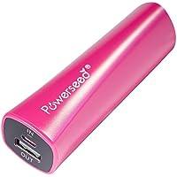 Powerseed® Rainbow, 2.400 mAh. Carica Batterie Portatile. Ricarica completa per un iPhone 5s, 80% per un iPhone 6, 70% per il Samsung Galaxy S6. Compatibile con tutti i dispositivi con porta di ricarica USB. Colore: Fuchsia