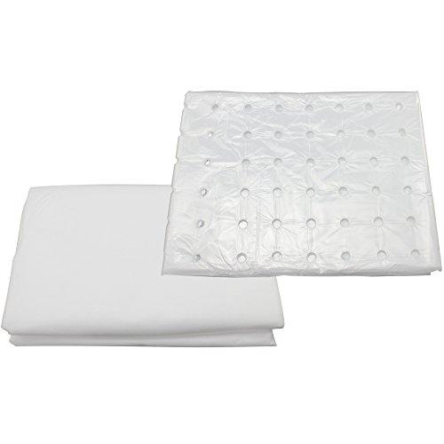 com-four® 2-teiliges Set Frühbeetfolie mit Löchern und Frühbeetvlies für Ganzjahresschutz, 1,5 x 10 m (02 Stück - Mix)