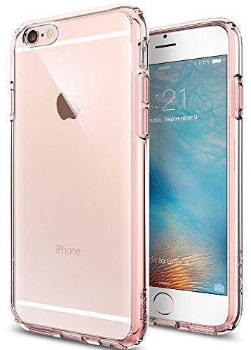 Spigen SGP11722 Ultra Hybrid Kompatibel mit iPhone 6S/6 Hülle, Einteilige Transparent Durchsichtige PC Rückschale Schutzhülle Case Rose Crystal