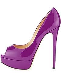uBeauty Zapatillas Plataforma Mujer Zapatos de Tacon Tallas Grandes Sandalias Sin Cordones