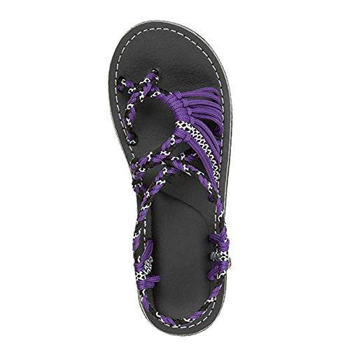 Ultimative Walking-schuh (XINGKEJI , Damen Zehentrenner violett violett 35)