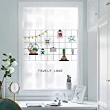 PVCOLL Glasfolie Fensterfolien 3D Fensteraufkleber Heart 憧憬 matt transparent opak dekorative Glasschiebetür Aufkleber Bad Glastür Aufkleber Schlafzimmer Fenster Glasaufkleber, 90cm * 120cm