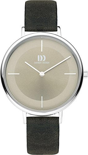 Danish Design Damen Analog Quarz Uhr mit Leder Armband IV14Q1185